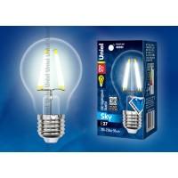 Лампа светодиодная Uniel (UL-00001372) E27 8W 4000K шар прозрачный LED-A60-8W/NW/E27/CL PLS02WH