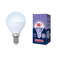 Лампа светодиодная Volpe (UL-00003830) E14 11W 6500K матовая LED-G45-11W/DW/E14/FR/NR