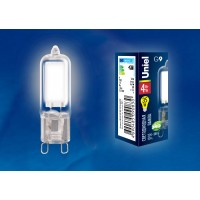 Лампа светодиодная Uniel (UL-00001814) G9 4W 4000K капсульная прозрачная LED-JCD-4W/NW/G9/CL GLZ01TR