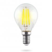 Лампа светодиодная Voltega E14 6W 4000К шар прозрачный VG10-G1E14cold6W-F 7022