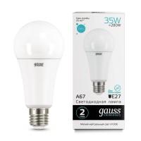 Лампа светодиодная Gauss E27 35W 4100K матовая 70225