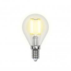 Лампа светодиодная Uniel (UL-00000197) E14 6W 3000K шар прозрачный LED-G45-6W/WW/E14/CL