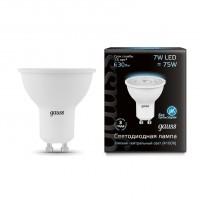 Лампа светодиодная Gauss GU10 7W 4100K полусфера матовая 101506207