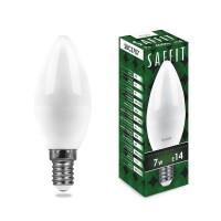 Лампа светодиодная Saffit E14 7W 4000K Свеча Матовая SBC3707 55031