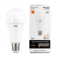Лампа светодиодная Gauss E27 25W 2700K груша матовая 73215