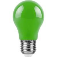 Лампа светодиодная Feron E27 3W зеленый Шар Матовая LB-375 25922