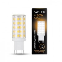 Лампа светодиодная Gauss G9 5W 2700К кукуруза прозрачная 107309105