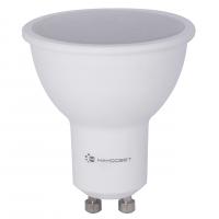 Лампа светодиодная Наносвет GU10 8W 2700K полусфера матовая LE-MR16A-8/GU10/827 L188