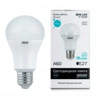 Лампа светодиодная Gauss E27 20W 4100K шар матовый 23229