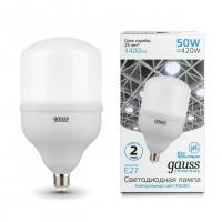 Лампа светодиодная Gauss E27 50W 4000K матовая 63225