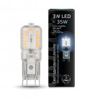 Лампа светодиодная Gauss G9 3W 4100K колба прозрачная 107409203