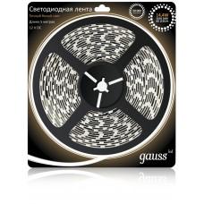 Светодиодная лента Gauss 5М теплый белый 14,4W IP20 312000114