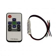 Контроллер для светодиодных лент с пультом ДУ SLV Easylim 3-канальный 12/24V 470650
