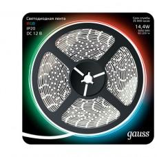 Светодиодная лента Gauss 5M RGB 14,4W IP20 312000414