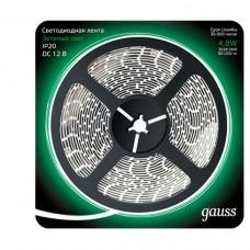 Светодиодная лента Gauss 5M зеленый 4,8W IP20 312000605