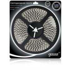 Светодиодная лента Gauss 5M холодный белый 10W 312000310