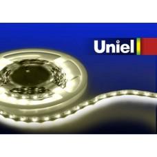 Светодиодная лента Uniel (04909) 3M теплый белый 14.4W ULS-3528-60LED/m-8mm-IP33-DC12V-4,8W/m-3M-WW