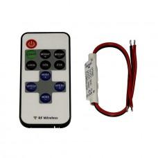Контроллер для светодиодных лент с пультом ДУ SLV Easylim 1-канальный 12/24V 470660