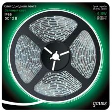 Светодиодная лента Gauss 5M зеленый 4,8W IP66 311000605