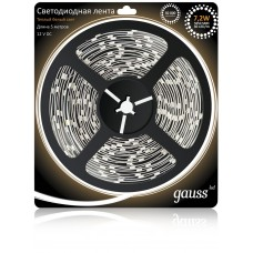 Светодиодная лента Gauss 5M теплый белый 7.2W 312000107