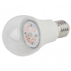Лампа светодиодная для растений ЭРА E27 10W 1310K прозрачная FITO-10W-RB-E27-K