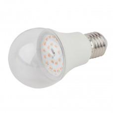 Лампа светодиодная для растений ЭРА E27 11W 2150K прозрачная FITO-11W-Ra90-E27