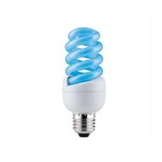 Лампа энергосберегающая Paulmann Е27 15W спираль синяя 88090