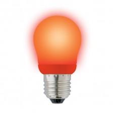 Лампа энергосберегающая Uniel (02955) E27 9W Red шар красный ESL-G45-9/RED/E27