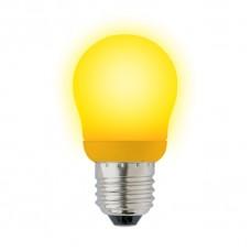 Лампа энергосберегающая Uniel (02977) E27 9W Yellow шар желтый ESL-G45-9/YELLOW/E27