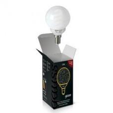 Лампа энергосберегающая Gauss E14 13W 2700K шар матовый 231113